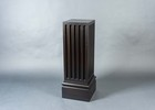 Fluted, Double Ebonized, Mahogany Pedestal