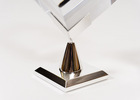 Chrome cube stand, Machined brass, Cube display stand