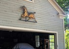 Outside Barn wall weather vane install, Art Installation
